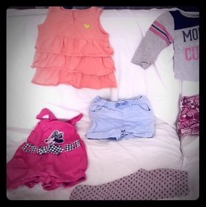 size 18 month -2T  girls clothing lot, 11 piece